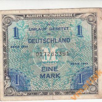 Германия 1 марка 1944 год зона Великобритании