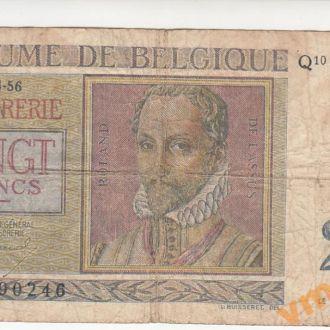 БЕЛЬГИЯ 20 франков 1956 год