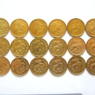 Россия_ Набор 10-копеечных монет (обиходные) ММД