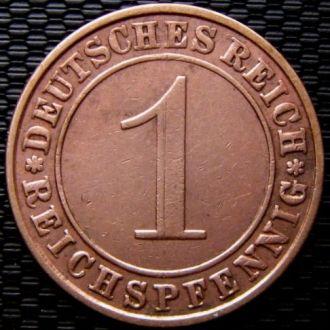 Германия 1 рейхспфенниг 1936 год (A)