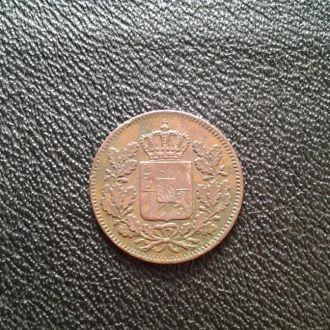 Бавария 2 пфеннинга  1850г.