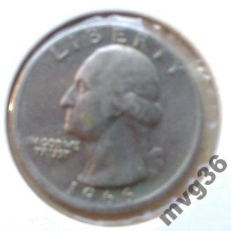 США,25 центов квотер,1966 год.