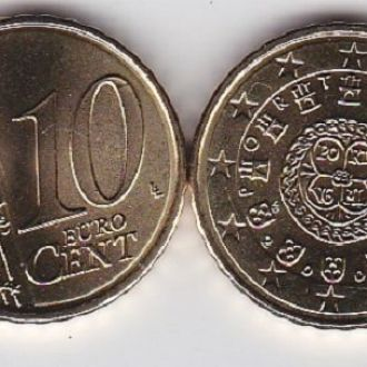 Portugal Португалия - 10 Cent 2009 UNC JavirNV