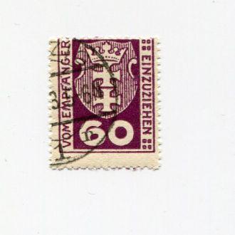 ГЕРМАНИЯ ДАНЦИГ 1921 СЛУЖЕБНЫЕ МАРКИ