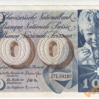 ШВЕЙЦАРИЯ 100 франков 1961 год