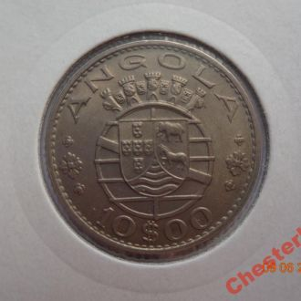 Португальская Ангола 10 эскудо 1970 СУПЕР состояние редкая