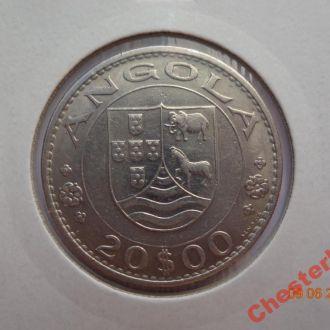 Португальская Ангола 20 эскудо 1971 СУПЕР состояние очень редкая