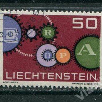 Лихтенштейн 1961 год Одиночка гаш. ЕВРОПА Септ
