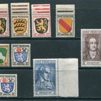 Французская зона ок. Германии 1945 год Серия *
