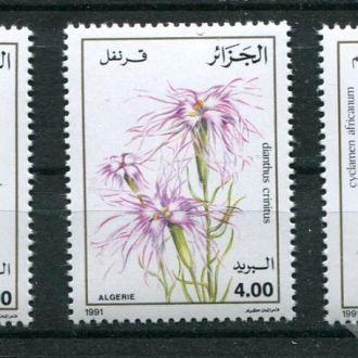Алжир 1991 Серия ** Цветы Растения