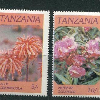 Танзания 1986 год Серия ** Цветы