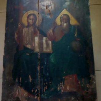 Святая Троица Большая старинная икона