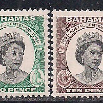 БРИТ. КОЛОНИИ BAHAMAS БАГАМЫ 1959 MNH