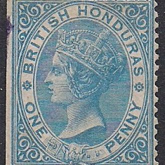 БРИТ. КОЛОНИИ BRIT. HONDURAS 1865 №1 MNG 100 ЕВРО
