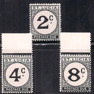 БРИТ. КОЛОНИИ ST. LUCIA 1949 MNH 11 ЕВРО