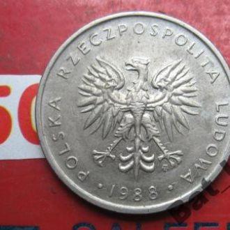 10 злотых 1988 г., ПОЛЬША.
