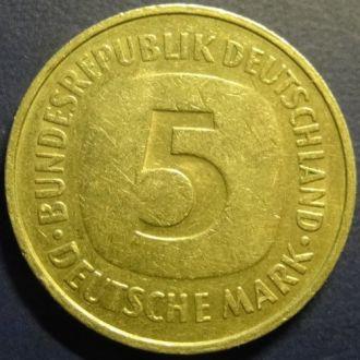 5 марок 1975 ФРГ D (Мюнхен)