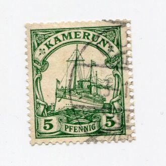 ГЕРМАНИЯ 1905 КОЛОНИИ КАМЕРУН ФЛОТ КОРАБЛЬ 5 пф
