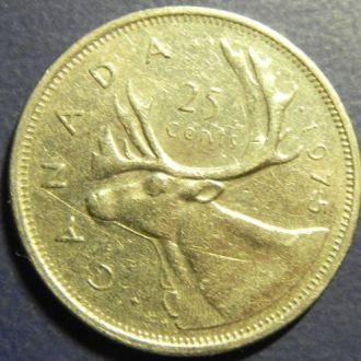 25 центов Канада 1975