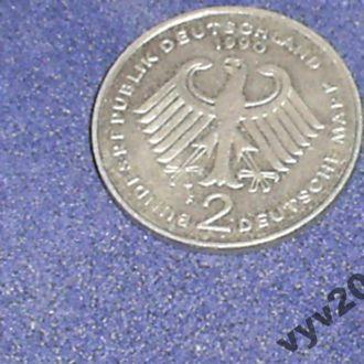 ФРГ-1990 г.-2 марки (F) Эрхард