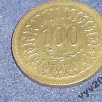 Тунис-1960 г.-100 миллим