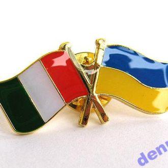 Значок флаг Германия и Франция, В наличии!