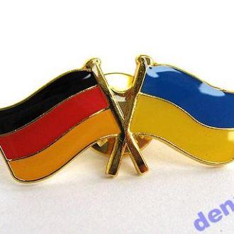 Значок флаг Германия и Украина, В наличии!