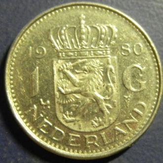 1 гульден 1980 Голландия