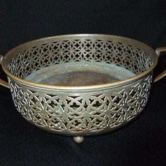 Ваза  бронзовая в серебрении (клеймо)