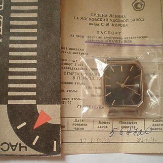 часы Полет Seconda позолоченные новые 22