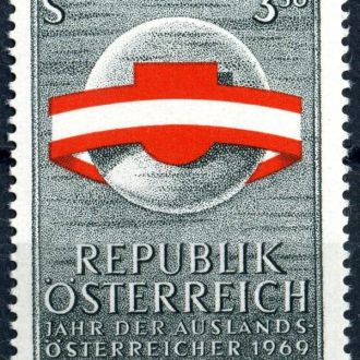 Австрия. Флаг (серия) 1969 г. **