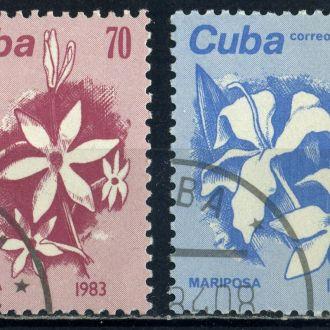 Куба. Цветы (серия) 1983 г.