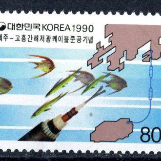 Корея Республика. Карта (серия)** 1990г.