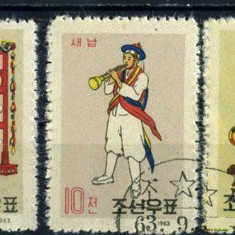 КНДР. Музыкальные инструменты (серия) 1963 г.