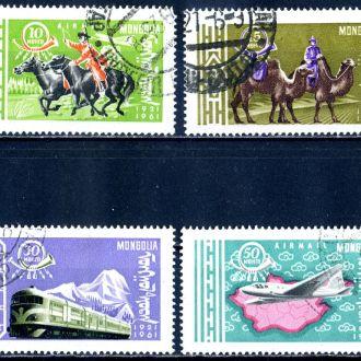 Монголия. Транспорт (серия) 1961  г.