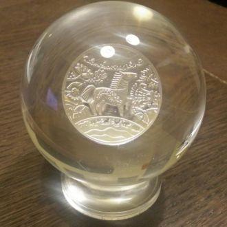 Монета Год Коня  в шаре