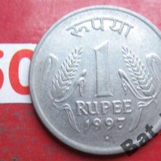 """ИНДИЯ 1 рупия 1997 года """".""""."""