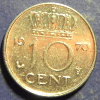 10 центов Голландия 1970