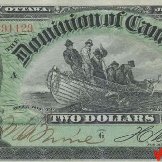 Канада 2 доллара 1897 год. КОПИЯ
