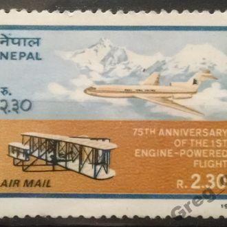 марки Непал техника самолеты не гашеная