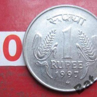"""ИНДИЯ 1 рупия 1997 года """"*""""."""