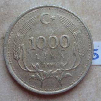 1000 лир 1991 г., Турция.