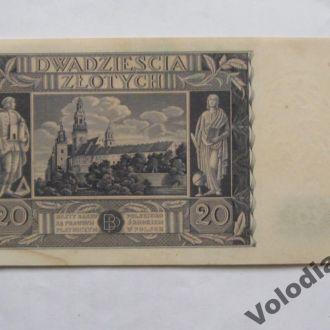 20 злотих 1936. Польща.
