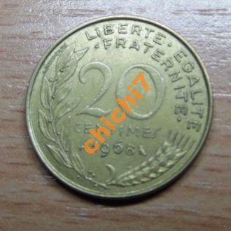 Франция 20 сентим 1968 год