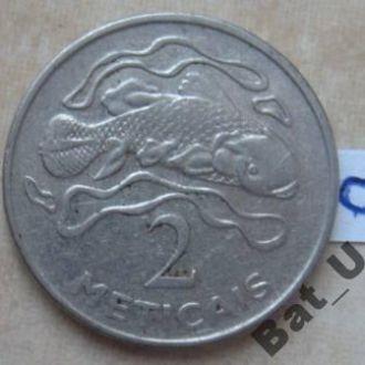 МОЗАМБИК, 2 метикас 2006 г. (рыба целакант).