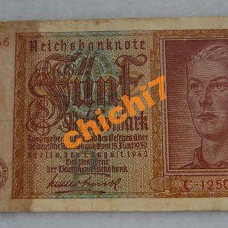 Германия 5 марок 1942 год