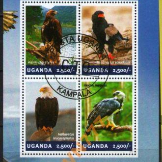 Уганда 2014 Хищные птицы блок