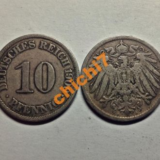 Германия. 10 пфеннигов 1900 г.