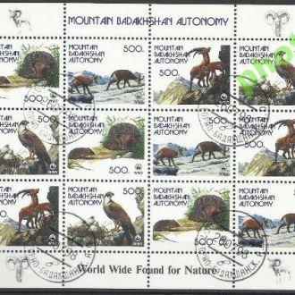 Таджикистан Горный Бадахшан 1998 фауна 12м.Клб гаш