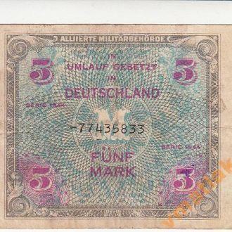 Советская оккупация Германии 5 марок 1944 год